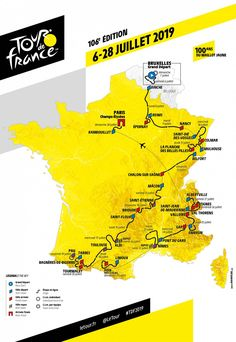 Turul Franței – Le Tour de France 2019: 5 finișuri în cățărare și 100 de ani de tricou galben