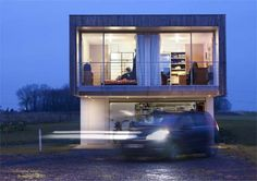 Airstream Shipping Container House located in Bersee, France