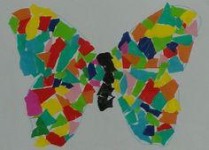 Colagem de papel de lustro