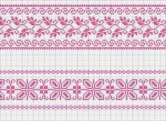 Cross-stitch Decorative Border... no color chart available, just use the pattern chart as your color guide.. or choose your own colors... Gallery.ru / Photo # 59 - Mono + Jacquard - irisha-ira