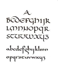 Uncial (top) and Carolingian
