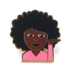 I Love My Hair Emoji Pin