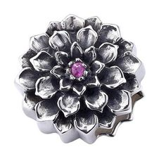 Lori Bonn Hello Dahlia Slide Charm - Authentic Silver Slide Charm by Lori Bonn. $115.00. Pink Sapphire Center Stone.. Artisan Silver Design.. Silver Petals Surround Center Stone.. Inspired by Victorian slide charms, Bonn Bons feature elegant filigree silverwork with brightly colored gemstones. The design is a fresh, modern take on the fashion of 19th century England. It's the charm bracelet all grown up. Mix and match charms to make your own unique bracelet.