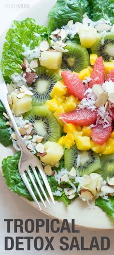 This tropical detox salad is one that  you will love making in the summer!