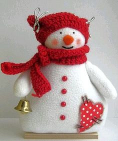 *** Sock Snowman, Snowman Crafts, Felt Crafts, Crafts To Make, Christmas Crafts, Christmas Decorations, Snowmen, Felt Christmas Ornaments, Christmas Snowman