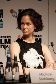 """Katherine Waterston attends the """"Steve Jobs"""" Press Conference during the BFI London Film Festival at the Mayfair Hotel on October 18, 2015 in London, England."""