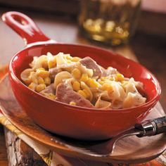 Pork Noodle Casserole Recipe- I'm thinking I can used leftover pork tenderloin for this one?