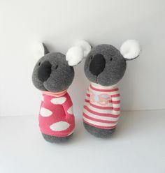 pair of sock koalas | by Treacher Creatures