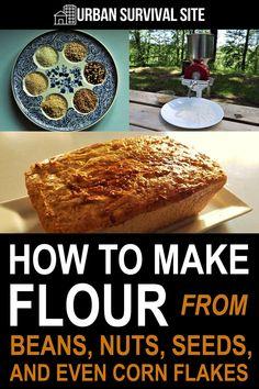How To Make Flour, Food To Make, Survival Food, Emergency Preparedness, Survival Tips, Survival Skills, Emergency Preparation, Emergency Food, Wilderness Survival