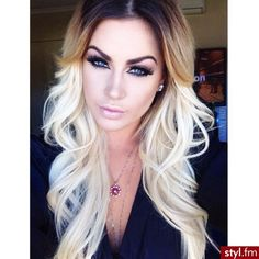 Image result for ombre dark to platinum