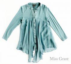 #MissGrant - VOILE SHIRT - Questa non è la solita camicia da bambina ma un trionfo di tessuti e originalità. Morbida, soffice e vellutata per un look casual ma chic - #OUTLET