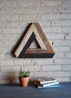 Reclaimed Wood Wall Art Decor Lath Penrose by EleventyOneStudio