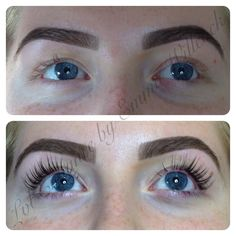Amazing LVL Enhance Lashes & HD Brows before & after by Emma Wilcock.
