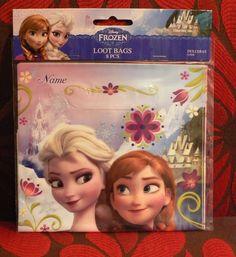 Disney Frozen Birthday Party Loot Favor Bags 8 Count Princess Elsa and Anna #DesignWare #BirthdayChild