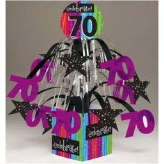 Milestone celebrations 70th birthday mini cascade centerpiece from