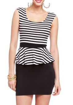 2B Striped Peplum Dress 2b Day Dresses Black/white-xs 2b by bebe,http://www.amazon.com/dp/B00B9R6VUQ/ref=cm_sw_r_pi_dp_kHHorb1KCM3FPYBH