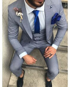 ro elegant casual tinuta barbati men suit tinuta barbati smart 2018 trend for sale small price best quality blue albastru Zara Man, Mens Suits, Suit Jacket, Slim, Costumes, Elegant, Fitness, Casual, Jackets