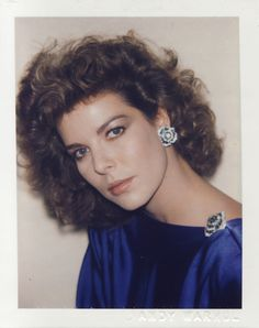 Oh how I idolized her when I was growing up.    Andy Warhol Polaroid of Princess Caroline, 1983