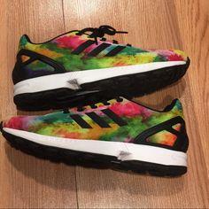 fb38a71a6c adidas Shoes | Adidas Torsion Zx Flux Watercolor Shoes | Color: Pink/Yellow
