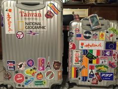 My rimowa topas iata and 36L suit cases stickered