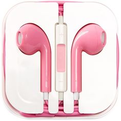 PhunkeeTree Pink Earbuds ($9.97) ❤ liked on Polyvore featuring accessories, tech accessories, headphones, music, tech, electronics, no color, pink headphones, headphone earbuds and pink earbuds