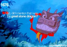 """""""Did... did I mention that I was the great stone dragon?"""""""