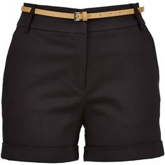 Sateene Tailored Short (1.805 RUB) ❤ liked on Polyvore featuring shorts, cuffed shorts, short shorts and tailored shorts