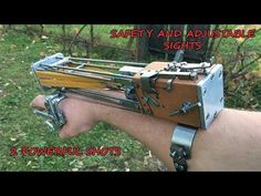 Making a 5 Shots Assassin's Creed Style Wrist Crossbow | Shooting - YouTube