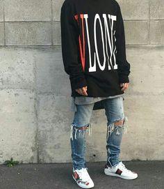 Streetwear, Sneakers & Streetculture W Trendy Mens Fashion, Teen Fashion, Fashion Outfits, Fashion Styles, Streetwear Fashion, Streetwear Brands, Robin, Latest Mens Wear, Pantalon Cargo
