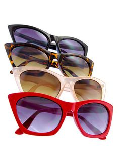 41dd449523 I can never have enough cat eye sunglasses. Looking for new red ones and  white. Rockabilly ...