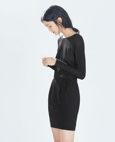 Image 3 of DRESS WITH BACK SLIT from Zara