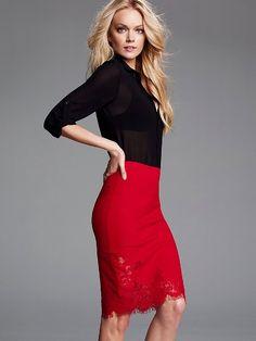 Lace-trim Pencil Skirt #VictoriasSecret http://www.victoriassecret.com/clothing/skirts/lace-trim-pencil-skirt?ProductID=94305=OLS?cm_mmc=pinterest-_-product-_-x-_-x