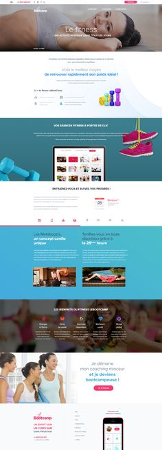 LeBootCamp.com - New design 2016 - Fitness - Sport - Coaching - Webdesign - UI - UX - Responsive