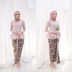 Model Kebaya Muslim, Model Kebaya Brokat Modern, Kebaya Modern Hijab, Kebaya Hijab, Kebaya Dress, Kebaya Wedding, Muslimah Wedding Dress, Dress Muslim Modern, Dress Brokat