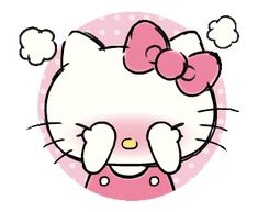 LINE Official Stickers - Hello Kitty's Daily Cuteness Example with GIF Animation Hello Kitty Art, Hello Kitty My Melody, Hello Kitty Themes, Hello Kitty Pictures, Sanrio Hello Kitty, Sanrio Wallpaper, Hello Kitty Wallpaper, Gifs Lindos, Cute Kawaii Animals