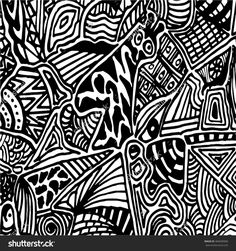 Sketchy vector hand drawn background