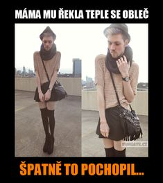 Máma mu řekla teple se obleč... Text Message Meme, Text Messages, Good Jokes, Funny Jokes, Funny Pins, Pranks, Funny Photos, I Laughed, Haha