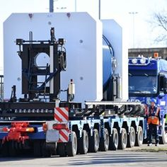 Castor container transported to Obrigheim nuclear power plant