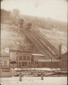 The Monongahela Incline, opened on May 28, 1870, was the first incline constructed in Pittsburgh. The incline, one of seventeen inclines in Pittsburgh at one time, climbs a 35 percent grade, one of the steepest incline planes in the world.