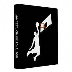 Shop Slam Dunk Basketball Player - White Silhouette 3 Ring Binder created by Personalize it with photos & text or purchase as is! Basketball Rim, Basketball Players, 3 Ring Binders, Binder Inserts, Slam Dunk, Binder Design, Custom Binders, Coding, Basketball Hoop