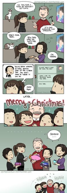 Every single year...! Our gifts are usually socks, household items, handcrafted things and gift cards, but hey, it's the thought that counts!´v ` MERRY CHRISTMAS/HAPPY HOLIDAYS! more min...