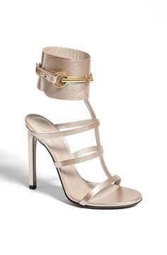Gucci 'Ursula' Gladiator Sandal - My mom & I saw these yesterday & fell IN LOVE! They're so gorgeous in person! <3