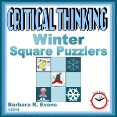 CRITICAL THINKING: Winter Square PuzzlersYour students will be in a flurry to play these mind bending puzzles.  Winter Square Puzzlers are excellent for exercising their problem solving skills. The challenge with these puzzles is to reconstruct the square so that all of the images match on every interior side.