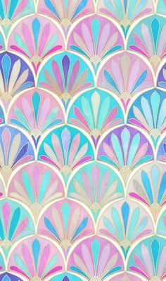 Colorful fabrics digitally printed by Spoonflower - Glamorous Twenties Art Deco Pattern large version Glamorous Twenties Art Deco Pattern large version by Micklyn - now available on fabric, wallpaper & giftwrap Arte Art Deco, Motif Art Deco, Art Deco Pattern, Art Deco Print, Pattern Fabric, Art Deco Design, Pastel Wallpaper, Wallpaper Backgrounds, Iphone Wallpaper