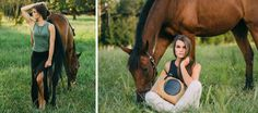 Tucker Tweed Model and her horse holding the James River Carry All