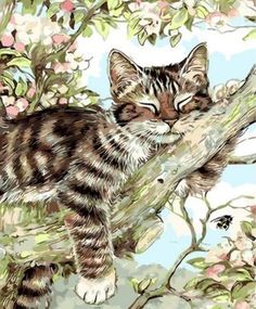 Lazy Cat Diy Paint By Numbers Kits Uk.This DIY Paint By Numbers kit comes with EVERYTHING you need; a canvas, a set of acrylic colors and different paint…Connect with family for a unique game night or have a painting party with friends! Lazy Cat, Paint By Number Kits, Unique Paintings, Paint Set, Paint Party, Acrylic Colors, Paint Brushes, How To Relieve Stress, Diy Painting