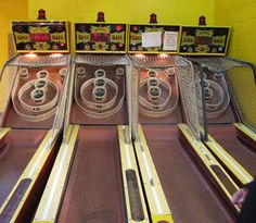 Skee-ball at the Boardwalk