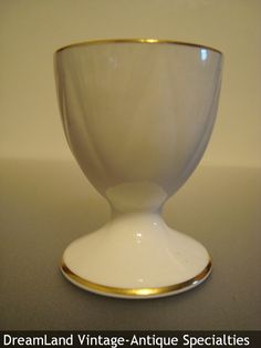 eggcup or egg cup made by Shelley China, England the Dainty shape with gold trim made 1940-1966. $100 - MAKE $ OFFER DreamLandSpecialties@comcast.net