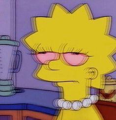 High Lisa Simpson, The Simpsons Simpson Wallpaper Iphone, Sad Wallpaper, Aesthetic Iphone Wallpaper, Cartoon Wallpaper, Iphone Wallpaper Tumblr Grunge, Trendy Wallpaper, Cartoon Icons, Cartoon Memes, Cartoons