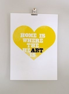 home is where the art is print by dearcolleen on Etsy $19